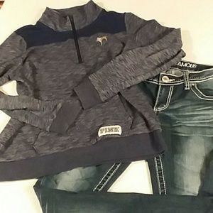 VS PINK Sweatshirt and jeans